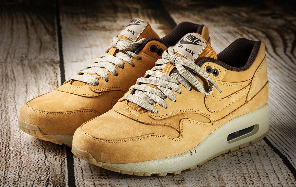 nike air max 1 leather premium wheat pack schuhe 705282 700 basketballschuhe. Black Bedroom Furniture Sets. Home Design Ideas