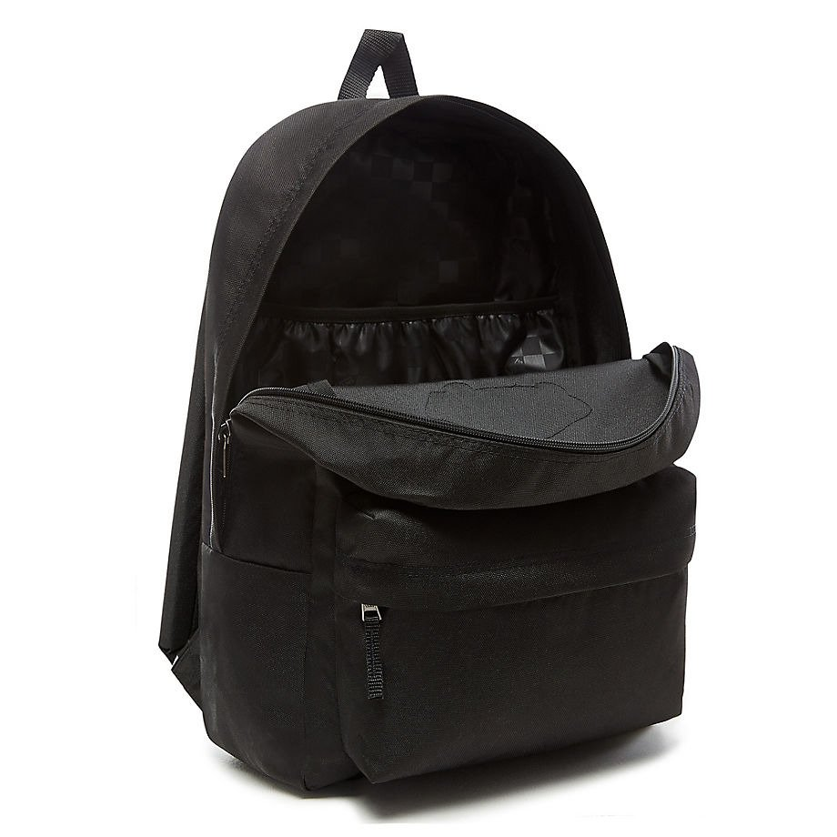 vans realm backpack tasche schwarz rucksack vn0a3ui6blk. Black Bedroom Furniture Sets. Home Design Ideas
