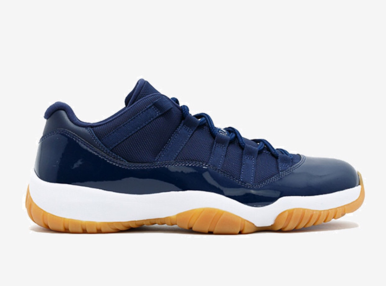 "AIR JORDAN 11 RETRO LOW ""NAVY GUM"" - 528895-405"