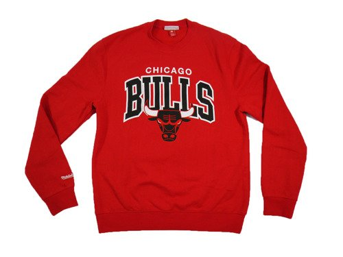 Mitchell & Ness NBA Chicago Bulls Team Arch Bluse - MN-1-TMARCHCREW-CHIBU-RED