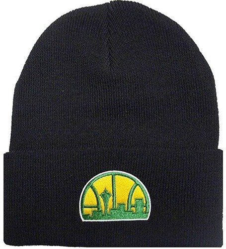 Mitchell & Ness NBA Seattle Supersonics Team Logo Cuff Knit - EU785-SEASUP