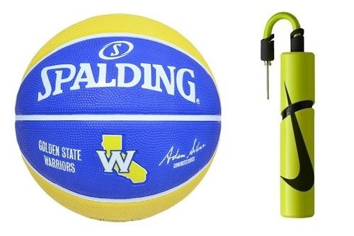 Spalding NBA Team Golden State Warriors Basketball + Pompka Nike Essential