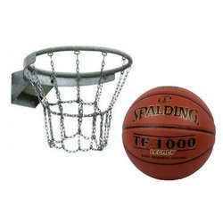 Basketball Rim + Spalding TF-1000 Legacy Basketball