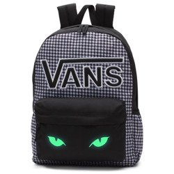 VANS Realm Flying V Backpack - Houndstooth Black/White | VN0A3UI8YER 006 - Custom lumi - Cat's Eyes