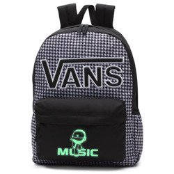 VANS Realm Flying V Backpack - Houndstooth Black/White | VN0A3UI8YER 006 - Custom lumi - Music