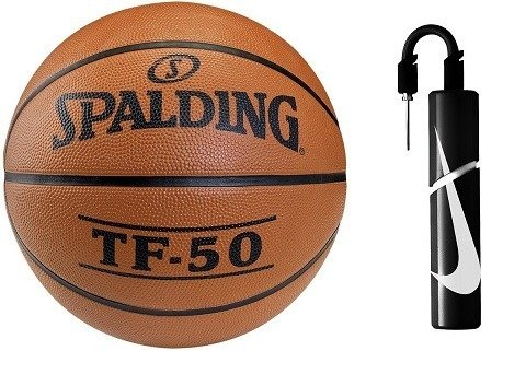 Basketball Spalding TF-50 Pallacanestro + Nike Essential Dual Action Ball Pump