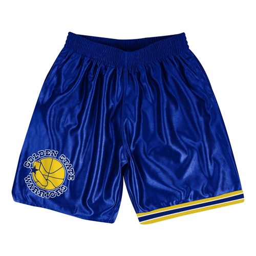 Mitchell & Ness Golden State Warriors NBA Dazzle Shorts - SHORDF18016-GSWROYA1