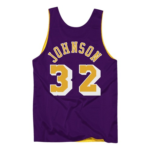 Mitchell & Ness NBA LA Lakers NBA Reversible Mesh Tank Earvin Johnson NNRMDA18007-LALLGPR1EJH84