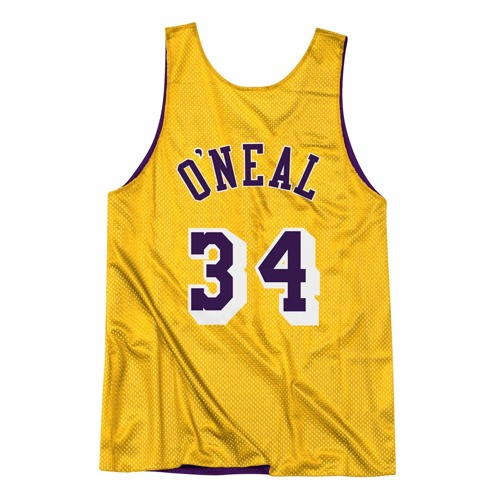 Mitchell & Ness NBA Reversible Mesh Tank Los Angeles Lakers Shaquille O'Neal - NNRMDA18007-LALLGPR1SON96