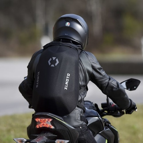 Slipstream motorcycle Backpack, Water-resistant - Custom Furious Skull