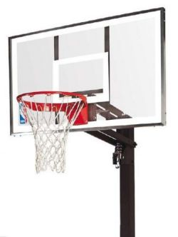 Spalding NBA Gold Exacta High Lift In Ground Basketball Set
