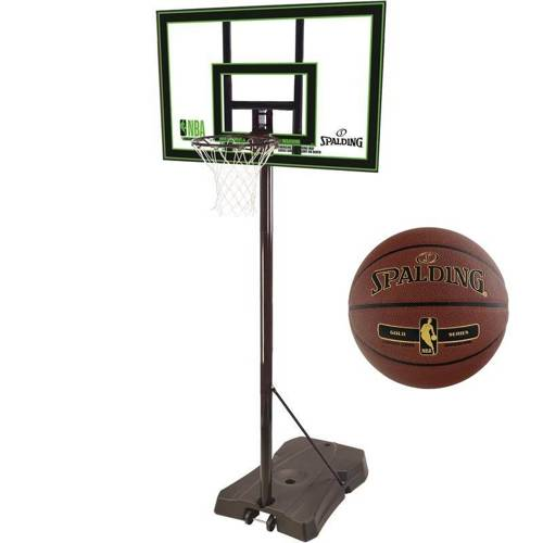Spalding NBA HIGHLIGHT ACRYLIC PORTABLE - 73990CN + Spalding Ball