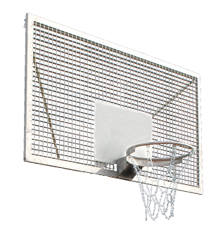 Steel basketball backboard 120 x 90 cm Interplastic