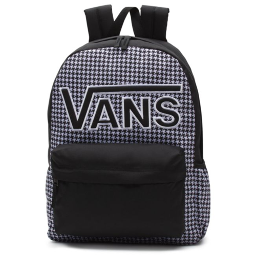 VANS Realm Flying V Backpack - Houndstooth Black/White | VN0A3UI8YER 006