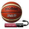 Molten 365 Basketball - BGH7X + Air Jordan Essential Ball Pump